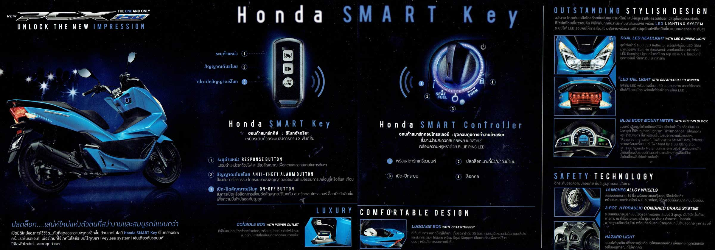 Honda PCX Brochure Page 2and3
